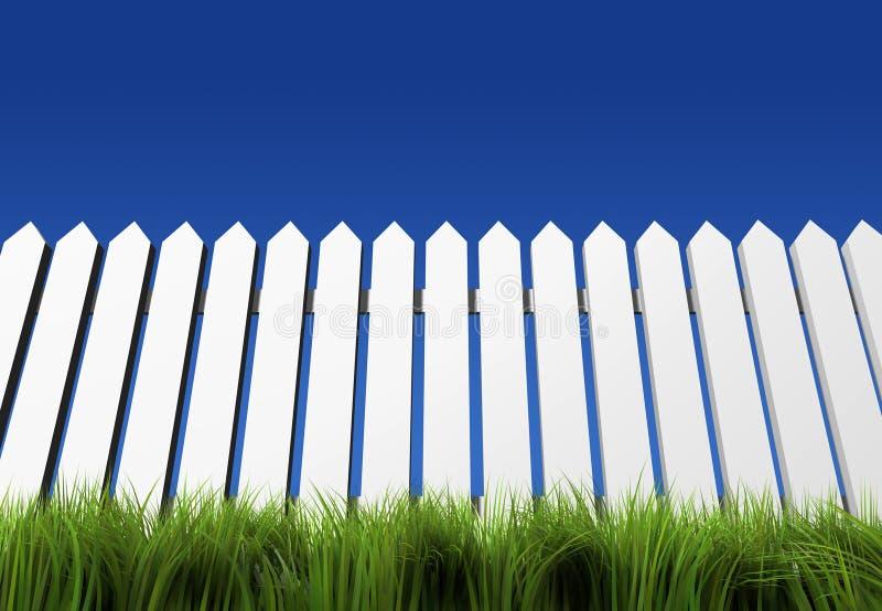 Weißer Zaun vektor abbildung