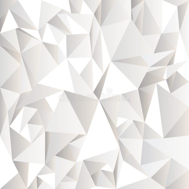 Weißer zerknitterter abstrakter Hintergrund lizenzfreie abbildung