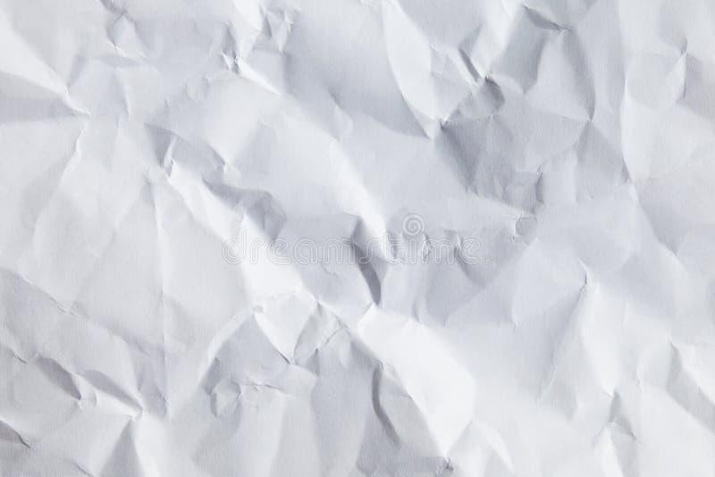 Weißer zerknitterter Papierhintergrund stockbilder