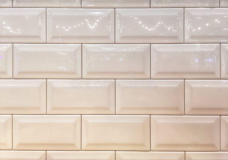Weißer Ziegelsteinwandhintergrund, abstrakt stockfoto