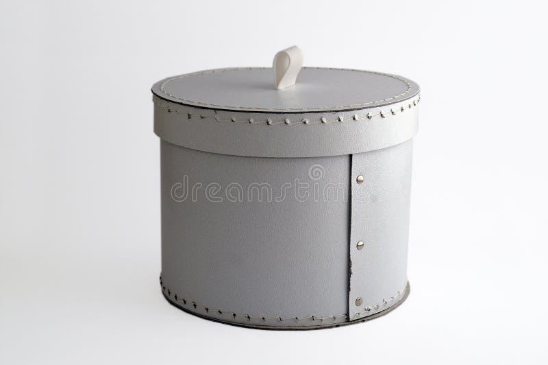 Weißer Zylinderkasten stockfotos