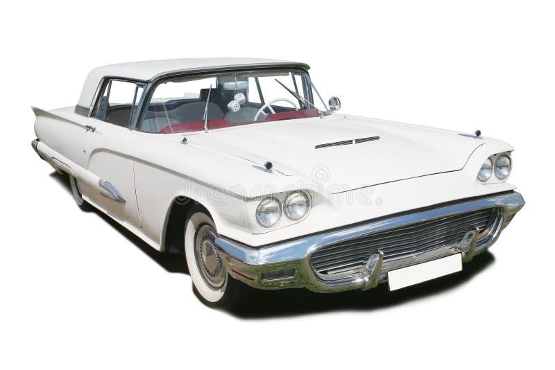 Weißes altes amerikanisches Auto lizenzfreie stockfotos