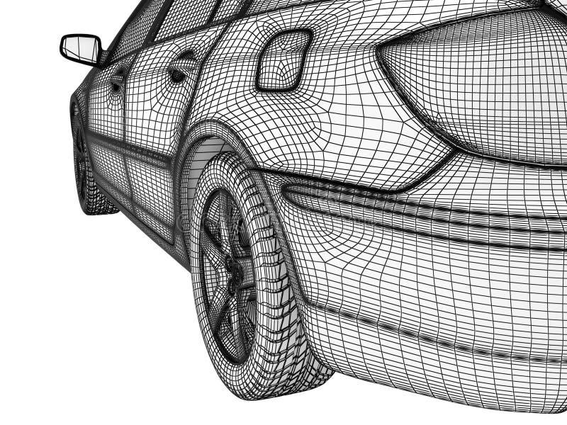 Weißes Auto vektor abbildung