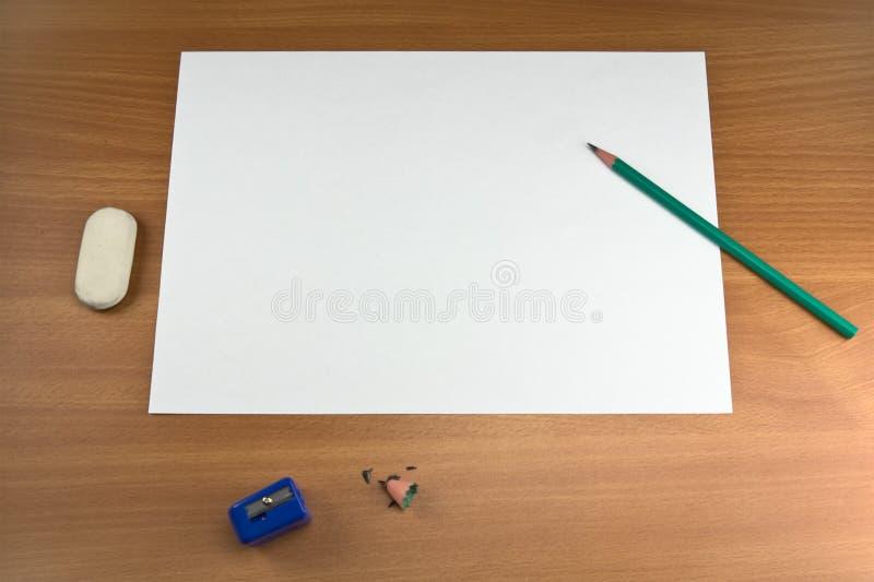 Weißes Blatt stockfotografie