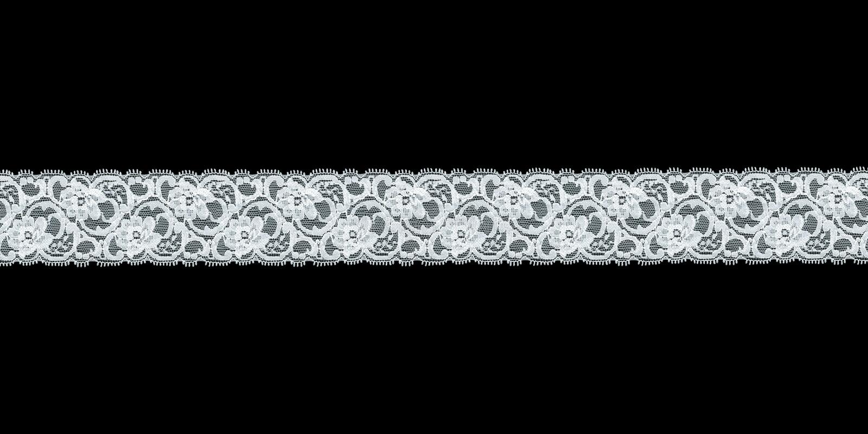 Weißes Blumenspitzeband lizenzfreie stockbilder
