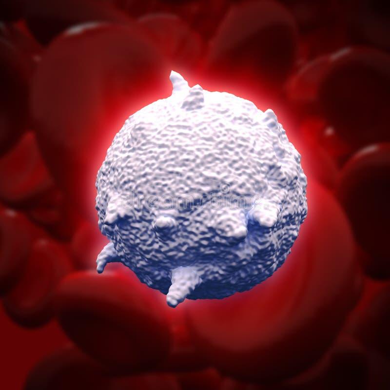 Weißes Blutkörperchen lizenzfreie abbildung
