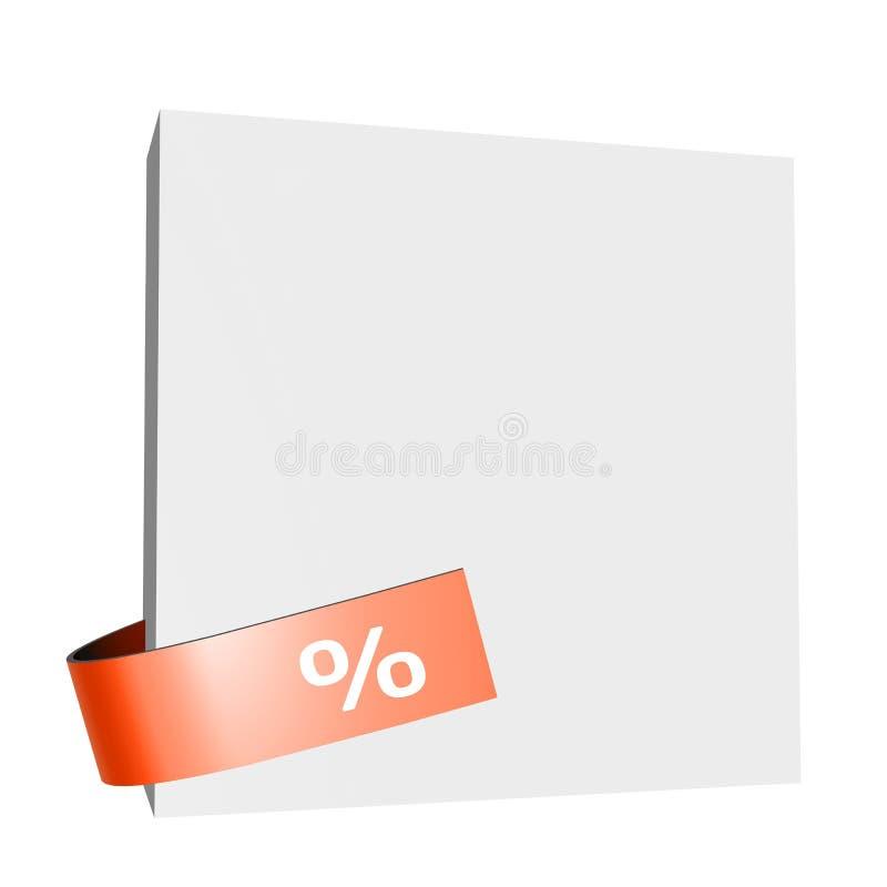 Weißes Brett mit Prozentsatzzeichen stockfotos