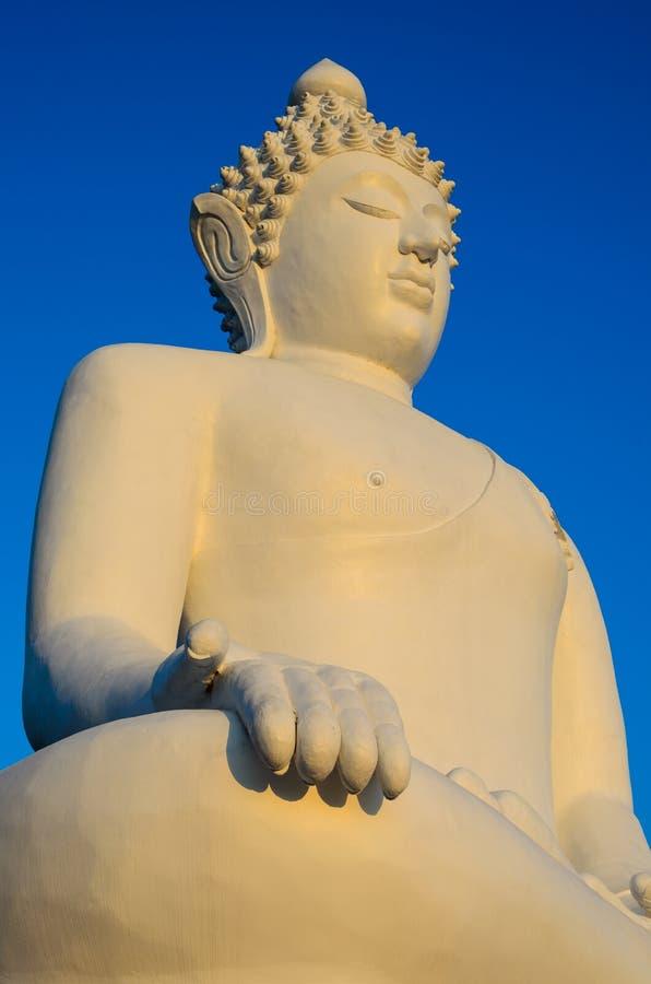 Weißes Budda stockfotos