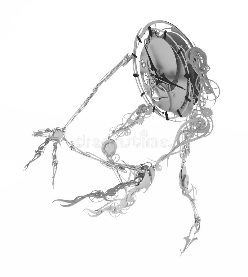 Weißes Clockman, Seitenansicht vektor abbildung