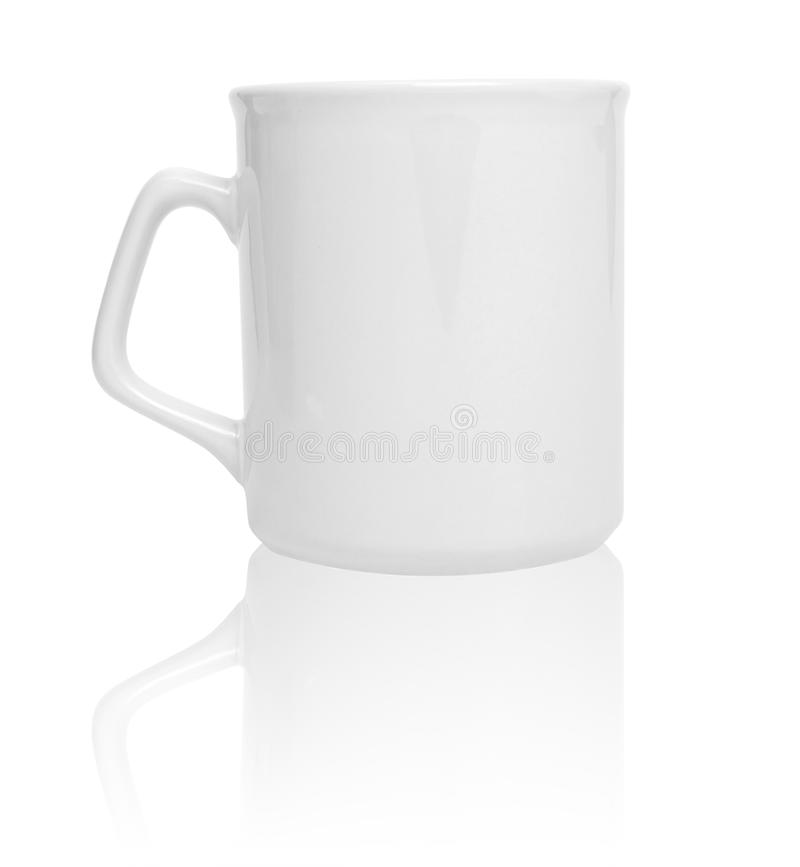 Weißes Cup lizenzfreie stockfotos