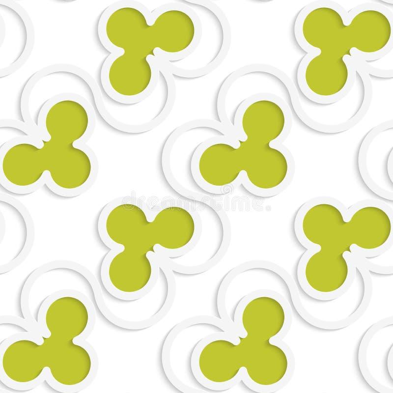 Weißes 3D mit Farbgrünen Vereinen vektor abbildung
