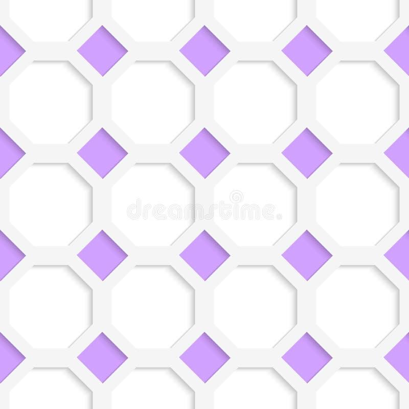 Weißes 3D mit Farbpurpurdiamanten lizenzfreie abbildung