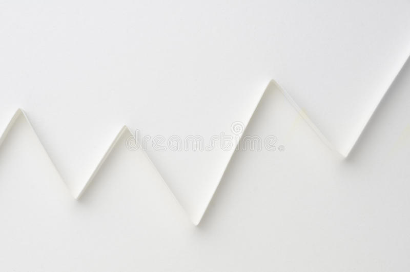 Weißes Diagramm stockfotografie