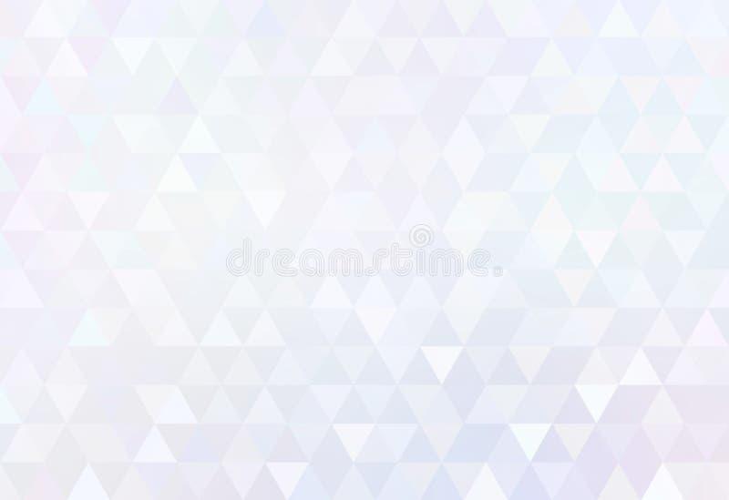 Weißes Diamant poligonal Zusammenfassungsmuster Dreieckiger subtiler einfacher Hintergrund Kreative Illustration der Tendenz lizenzfreie abbildung