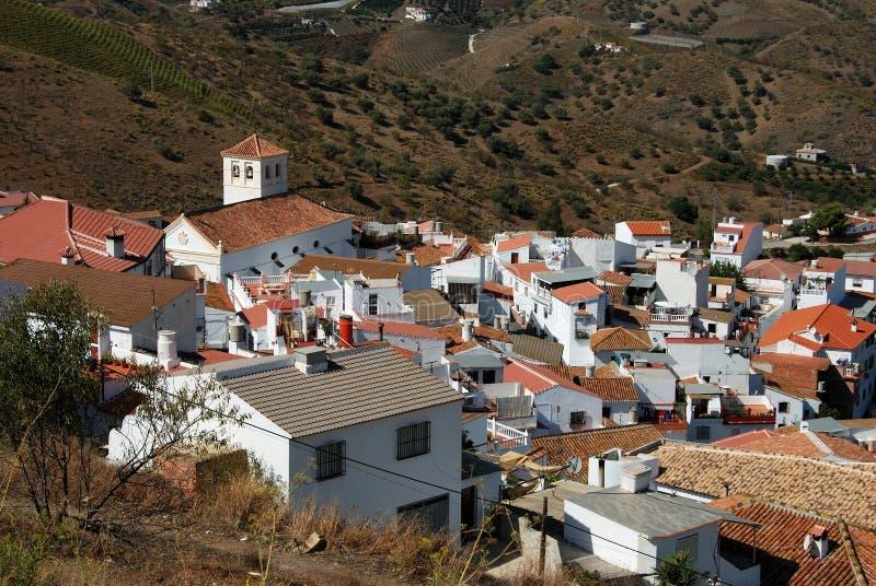 Weißes Dorf, Iznate, Andalusien, Spanien. stockfotografie