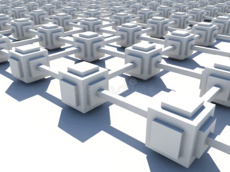 Weißes endloses Netz vektor abbildung