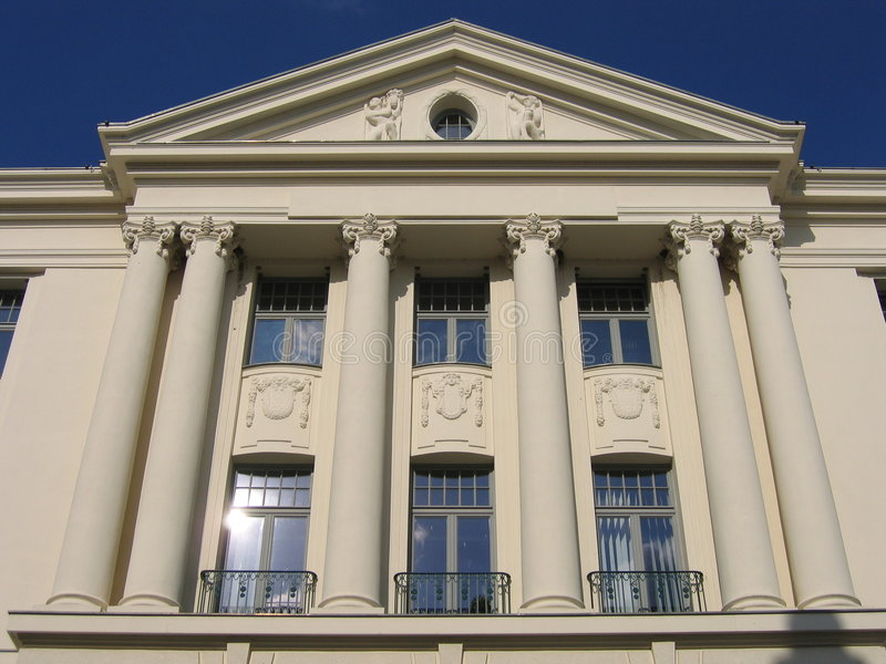 Weißes Gebäude I stockbild