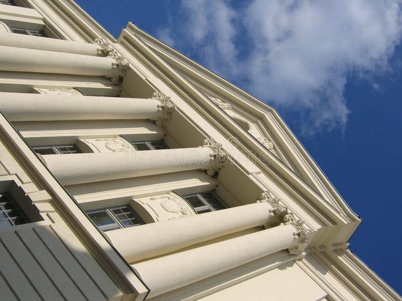 Weißes Gebäude III lizenzfreie stockfotografie