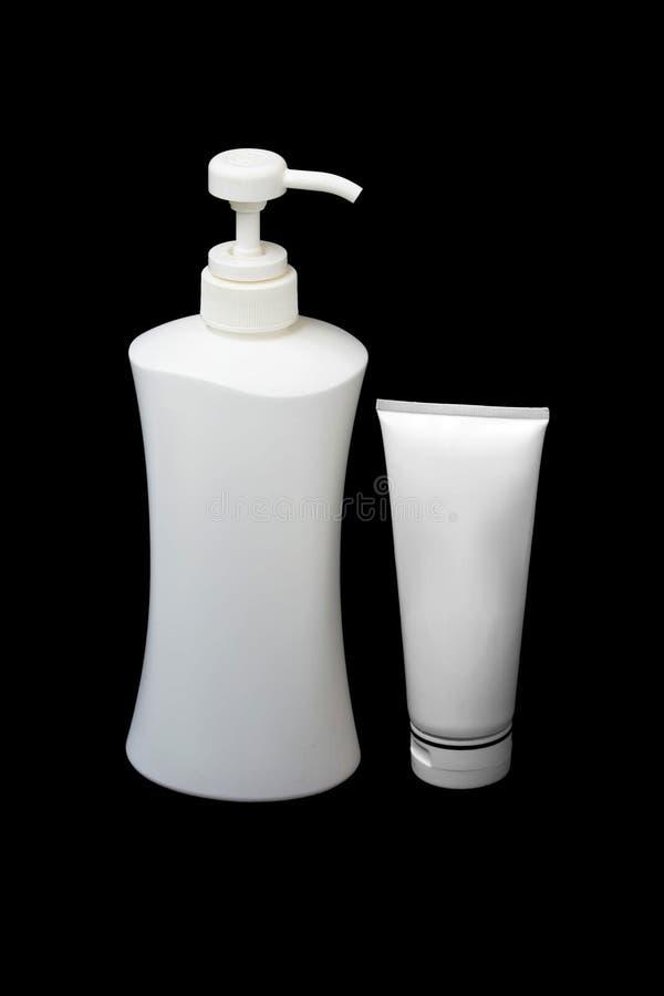 Download Weißes Gefäß Und Lotionflasche Stockbild - Bild von lotion, frau: 26362553