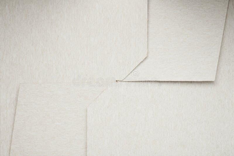 Weißes gefaltetes Papier lizenzfreie stockfotografie