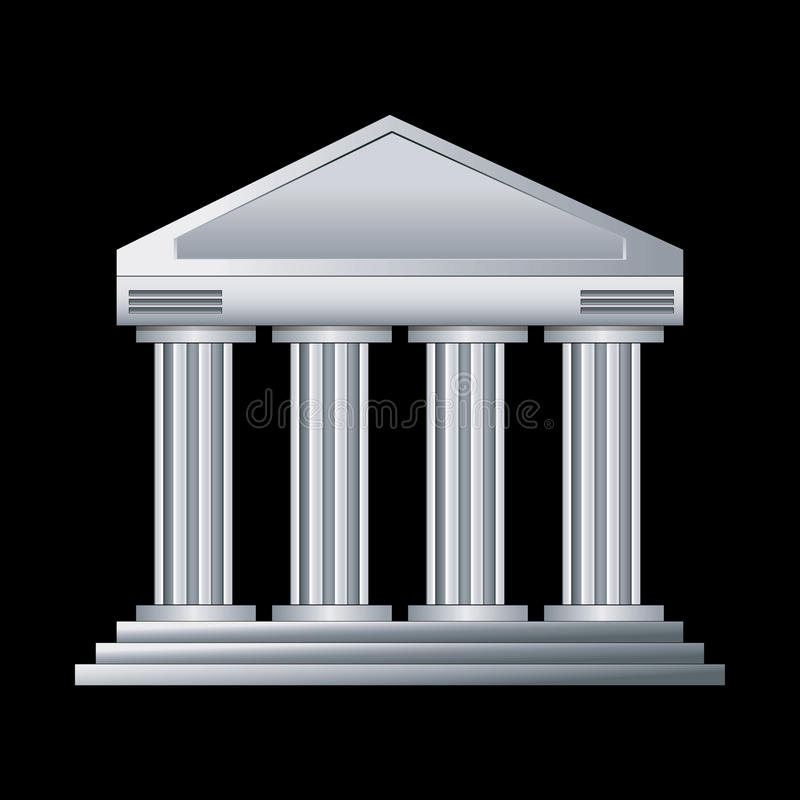 Weißes Gericht stock abbildung