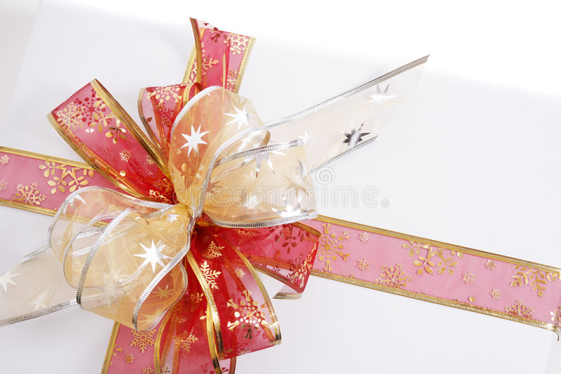 Weißes Geschenk stockfotografie