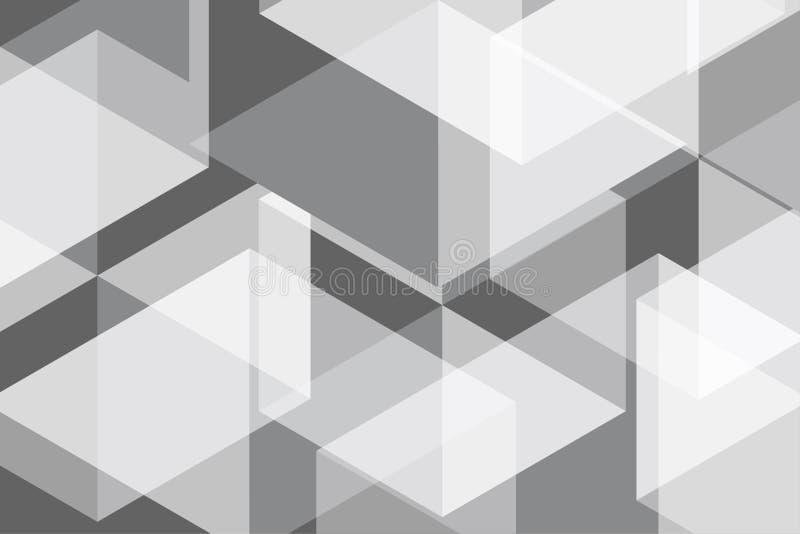 Weißes Grey Geomatric Abstract Background vektor abbildung