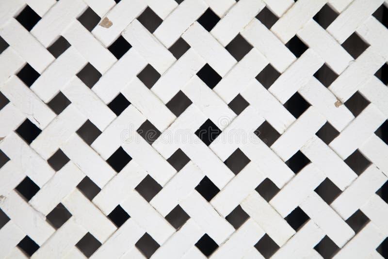 Weißes hölzernes Gitter lizenzfreies stockbild