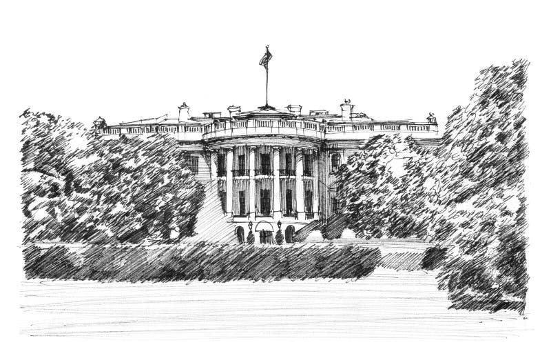 Weißes Haus stock abbildung