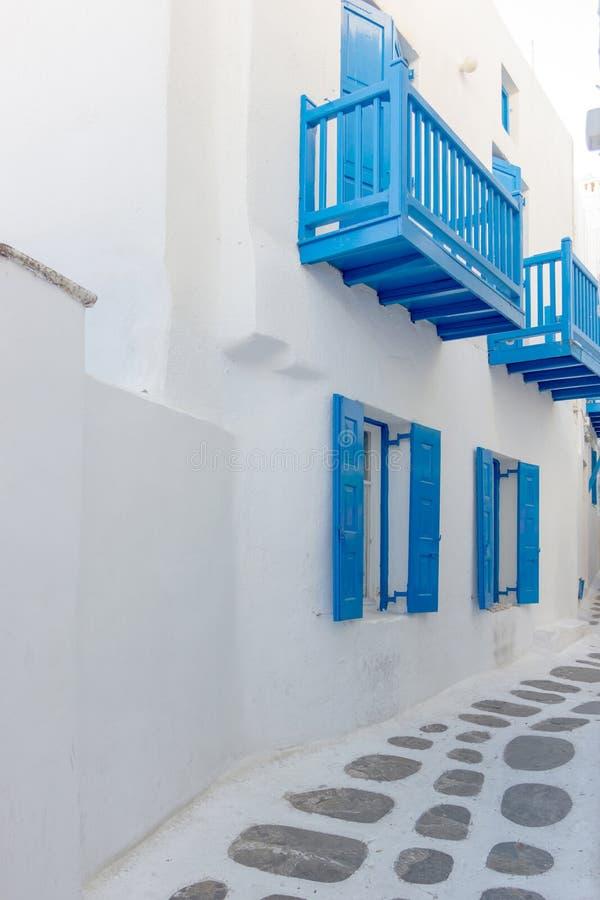 Weißes Haus in Mykonos lizenzfreies stockbild