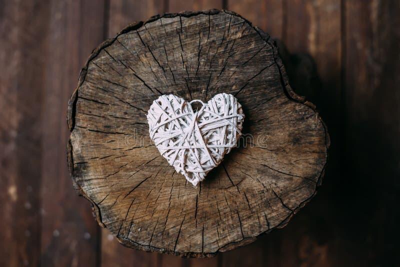 Weißes Herz stockbild