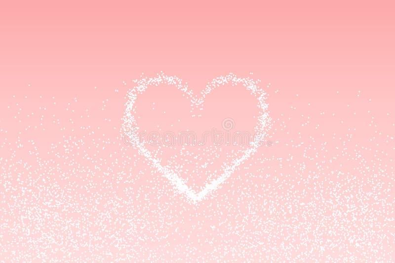 Weißes Herz des FunkelnLichteffektes lizenzfreie abbildung