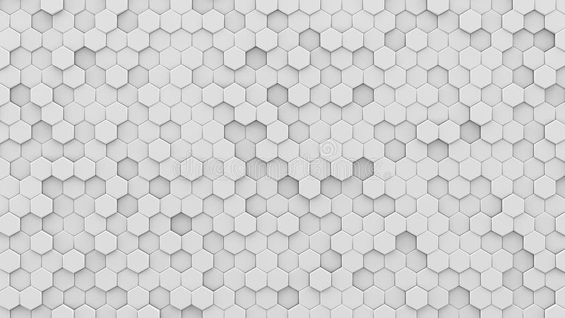 Weißes Hexagonmosaik 3D übertragen lizenzfreie abbildung