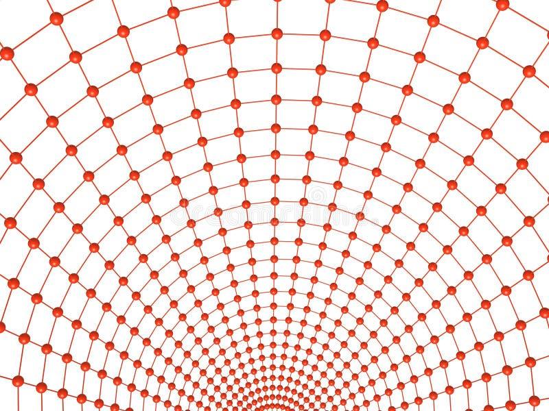 Weißes Ineinander greifen vektor abbildung
