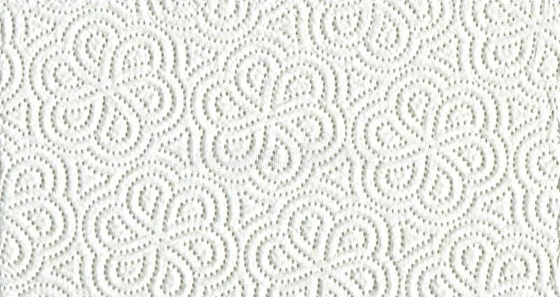 Weißes Küchenpapier stockfoto
