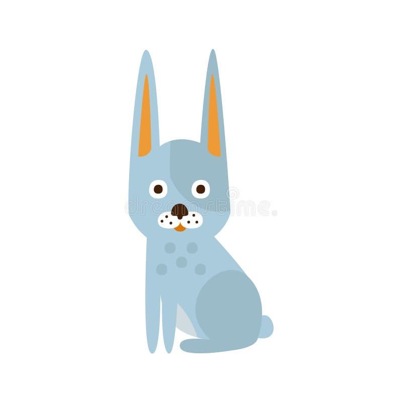 Weißes Kaninchen mit den spitzen Ohren, kampierend und wandernd Tourismus im Freien bezog sich Einzelteil lokalisierte Vektor-Ill vektor abbildung