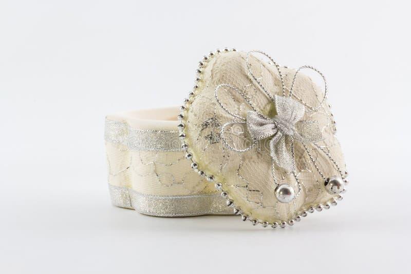 Weißes keramisches Geschenk. stockfotografie