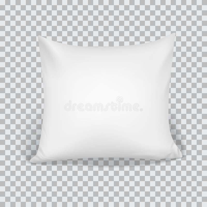 Weißes Kissen Elemente des Schlafzimmers, Haus, Hotel-Dekor vektor abbildung