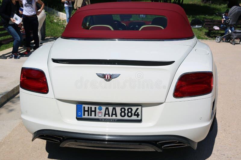 Weißes kontinentales GT in Nizza, Frankreich stockfotos