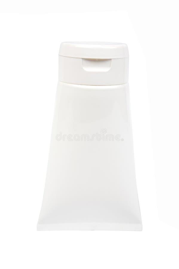Weißes kosmetisches Gefäß stockbilder
