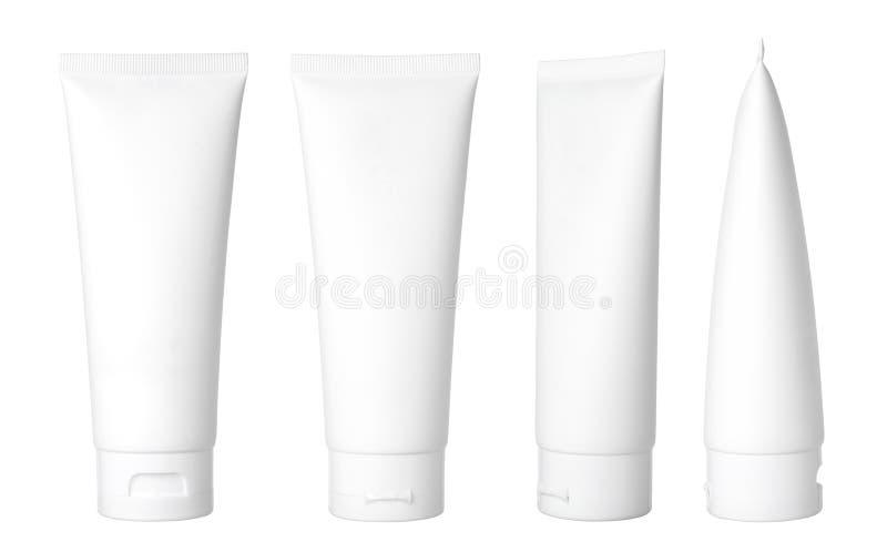 Weißes kosmetisches Gefäß lizenzfreie stockbilder