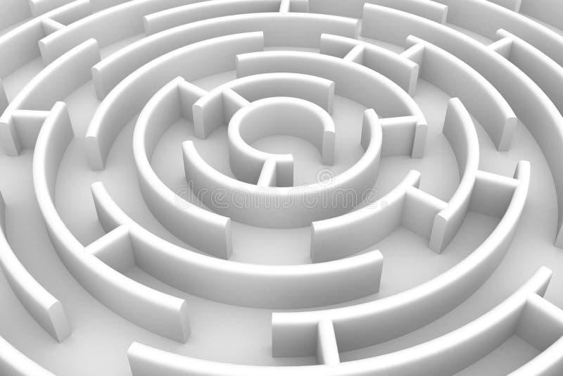 Weißes Kreislabyrinth. vektor abbildung