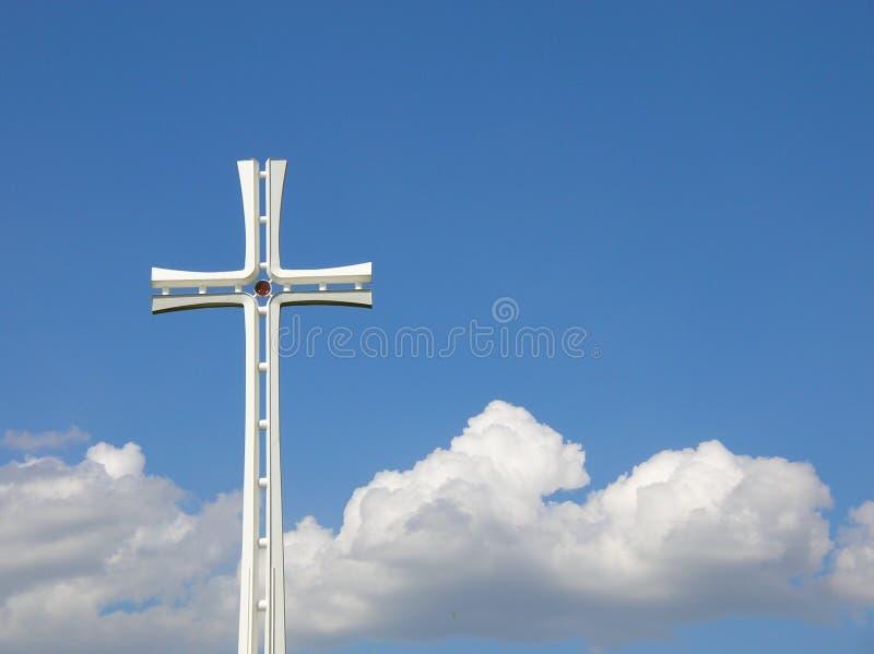 Weißes Kreuz stockfotos
