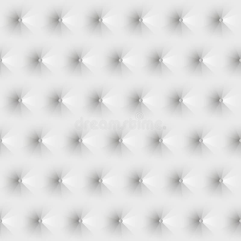 Weißes Leder der nahtlosen Beschaffenheitspolsterung lizenzfreie abbildung