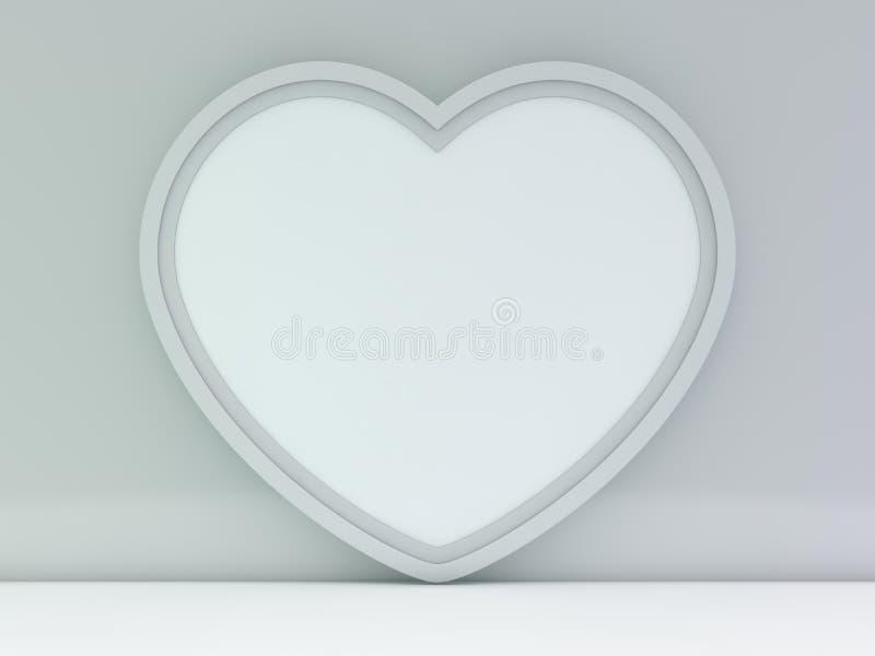 Weißes leeres Fotorahmenmodell über Hintergrund 3d lizenzfreie abbildung