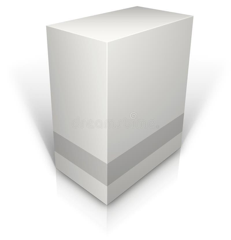 Weißes leeres Kleinproduktpaket vektor abbildung