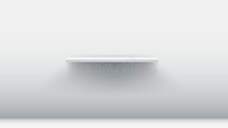 Weißes leeres Regal lizenzfreie abbildung
