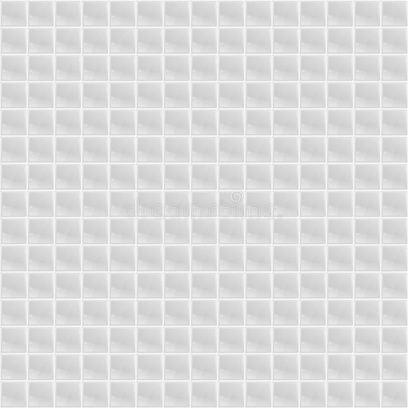 Weißes Muster-vierflächiges Mosaik lizenzfreie abbildung