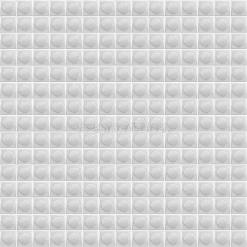 Weißes Muster-vierflächiges Mosaik vektor abbildung