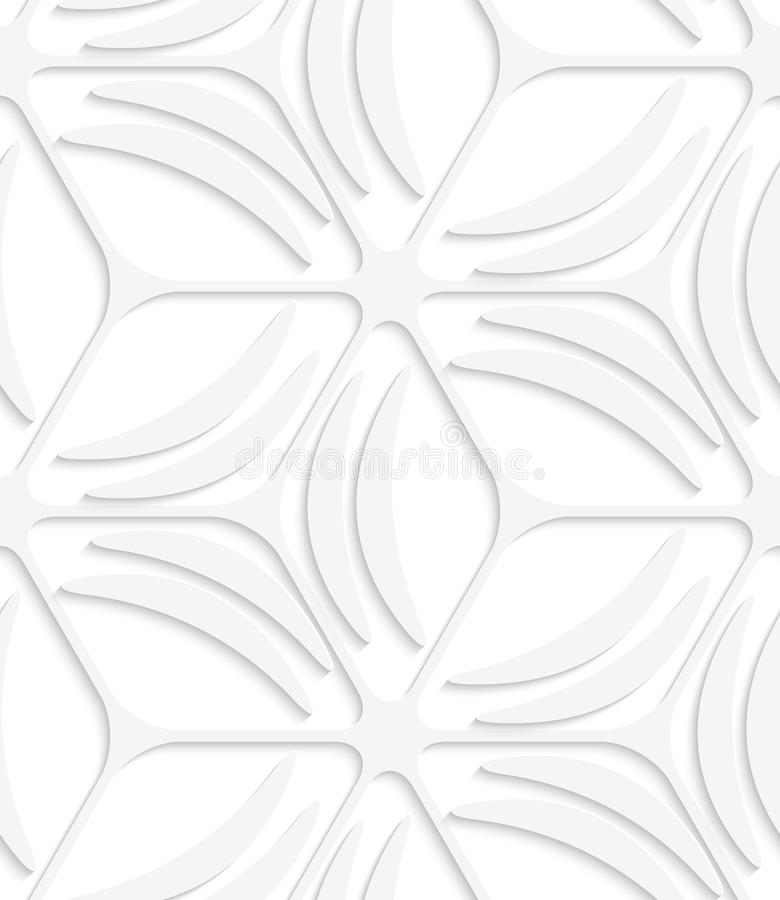 Weißes nahtloses Muster der Netz- und Bananenformen stock abbildung